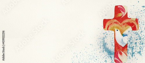 Obraz na płótnie Baptism, confirmation concept. Christian banner.