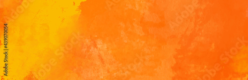 Fotografie, Tablou Watercolor red and orange color abstract banner.