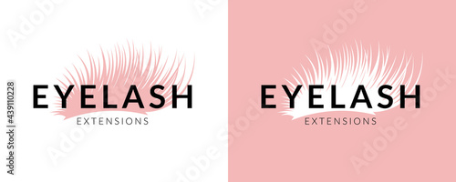 Stampa su Tela Trendy eyelash extension logo