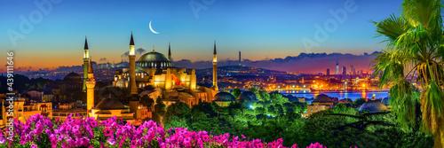 Fotografering Illuminated Hagia Sophia