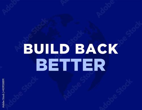 Canvas Print Build back better, G7 Economic plan for the better world