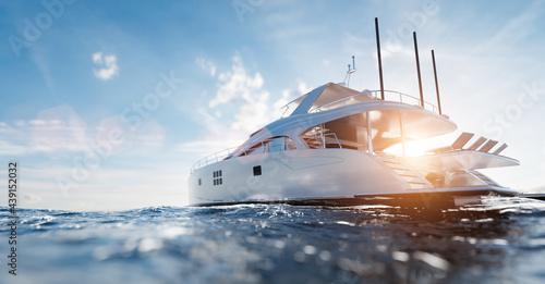 Carta da parati Catamaran motor yacht on the ocean