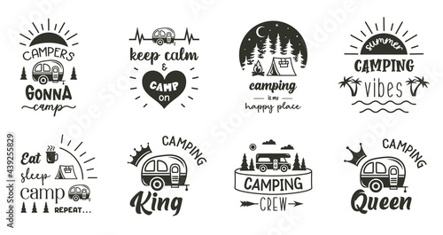 Fotografia Camping sign with quotes