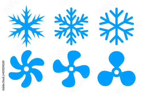 Air conditioning symbol, cooling fan icon