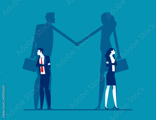 Business conflicts but also cooperate with each other Fototapet