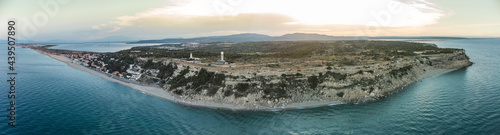 Fotografiet Panorama des falaises de Leucate