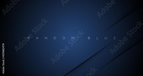 Fotografie, Obraz Minimal abstract navy blue cut wallpaper vector EPS
