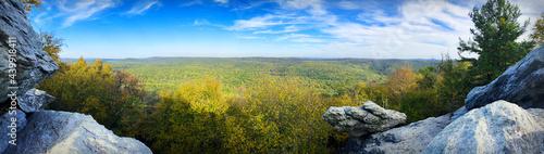Canvastavla Panoramic Autumn Overlook at Chimney Rocks Michaux State Forest Appalachian Trai