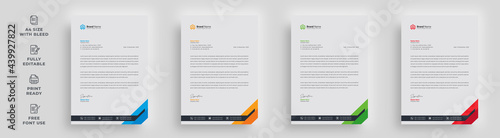 Obraz na plátne letterhead flyer corporate official minimal creative abstract professional infor