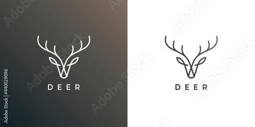 Deer head antler line icon Fototapete