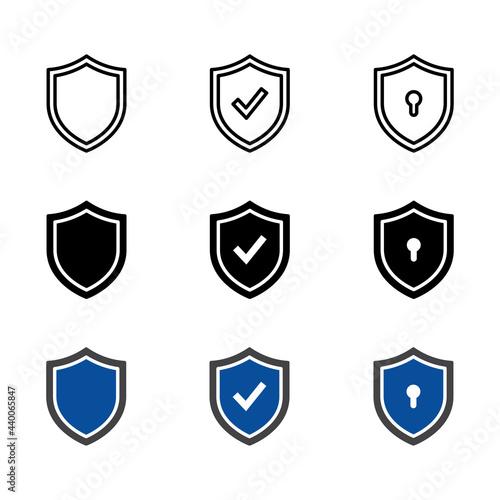 Canvastavla Shield icon Set vector for web