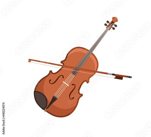 Canvas Print Classical violin and bow