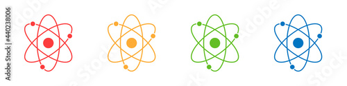 Fotografía Atom icons set isolated on white background