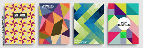Canvas Print Modern geometric abstract background covers set