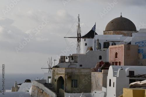 Carta da parati Santorin merveille de l'Europe du sud