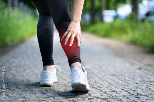 Calf Injury And Cramp Pain Fototapet