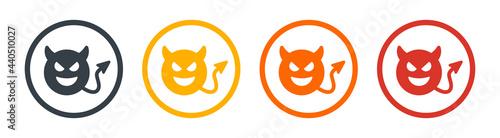Fotografia Devil horn, demon, evil or monster vector icon design.