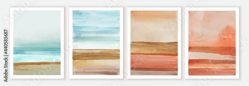 Photo Abstract wall art watercolor compositions