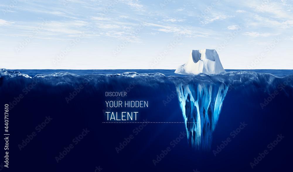 Leinwandbild Motiv - jirsak : Discover your hidden talent concept with iceberg