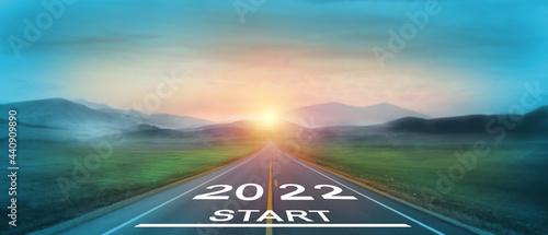 Fotografia, Obraz New year 2022 or start straight concept