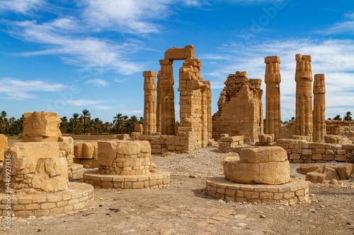 Fototapeta The temple ruins of Soleb in Sudan