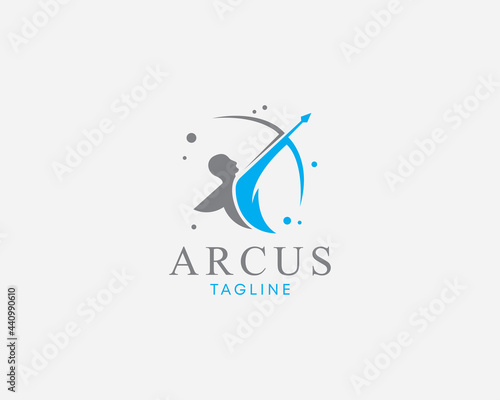 Fotografia archer logo creative design template sign symbol