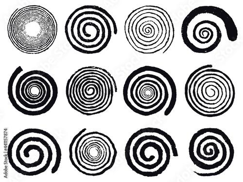 Canvas Print Grunge spirals