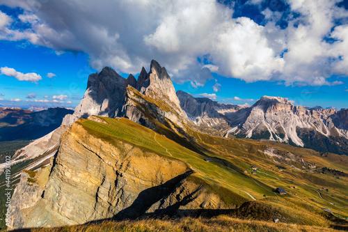 Obraz na plátně View on Seceda peak