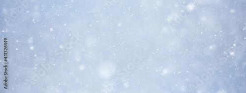 Fotografie, Obraz abstract snow background sky snowflakes gradient