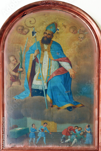Tela Saint Valentine altarpiece in the parish church of Saint Stephen the King in Her