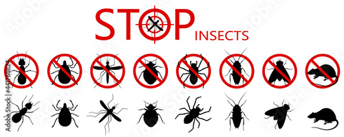 Canvas Anti pest control ban, prohibition parasitic insects
