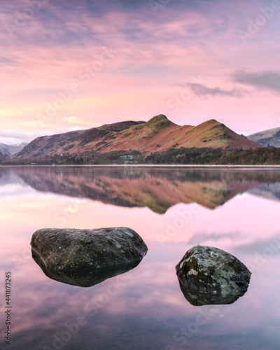 Photographie Catbells From Isthmus Bay On Derwent Water, Keswick