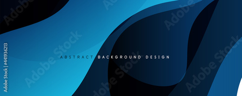 Fotografia, Obraz Trendy simple fluid color gradient abstract background with dynamic wave line effect