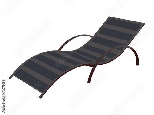 Fotografiet Deck chair, vector image on a white background.