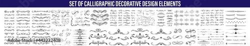 Fototapeta Calligraphic design elements