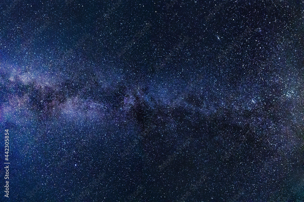 Photos of beautiful stars at night are suitable for photo overlay backgrounds