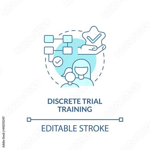 Fototapeta Discrete trial training concept icon