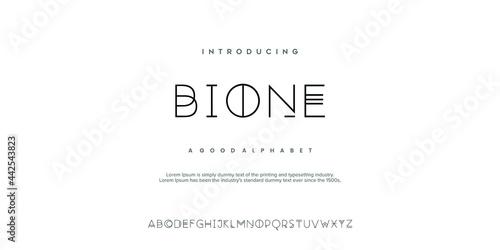 Fotografie, Tablou Abstract minimal modern alphabet fonts