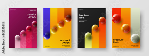 Canvas Print Trendy leaflet design vector layout set