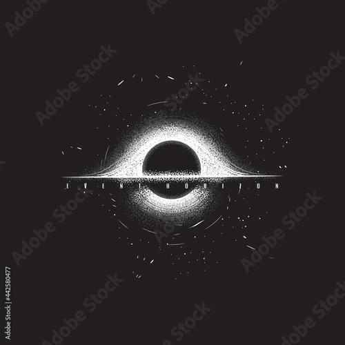 Fototapeta Original monochrome vector illustration