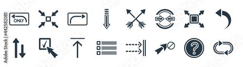 Obraz na plátně user interface filled icons