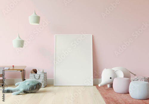 Tela Playroom with dolls and picture frames.