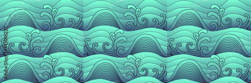 Slika na platnu Big wave vector illustration