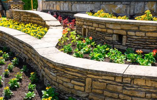 Fotografie, Obraz Landscape design of nice home garden in summer