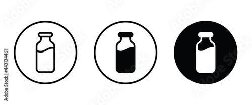 Fotografia milk bottle icon, milk icons button, vector, sign, symbol, logo, illustration, e