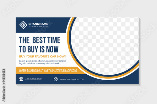 Fotografia, Obraz abstract flyer template design use a headline is the best time to buy car