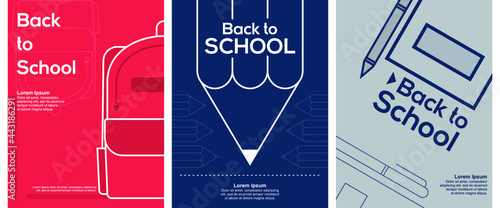 Leinwand Poster Back to School