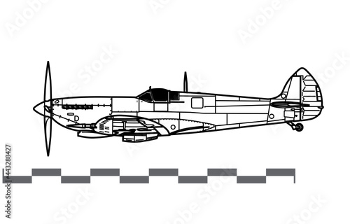 Obraz na płótnie Supermarine Spitfire Mk IX