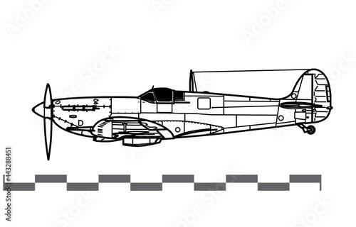 Wallpaper Mural Supermarine Spitfire Mk V