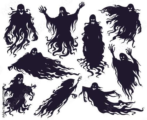 Fotografia, Obraz Halloween evil spirit silhouette